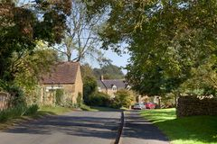Cotswold village. Of Ilmington, Warwickshire, England Royalty Free Stock Image