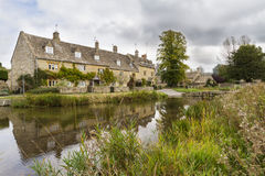 Cotswold village of Lower Slaughter, Gloucestershire, England Royalty Free Stock Photography