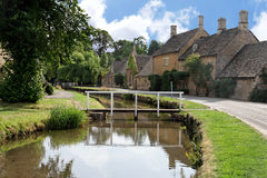 Cotswold village street Stock Image