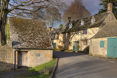 Cotswold village in Summer stock images