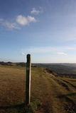 The Cotswold Way, on Cleeve Hill. Stock Image