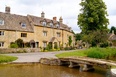 Cotswolds. Picturesque village of Lower Slaughter in the Cotwolds of England Royalty Free Stock Photo