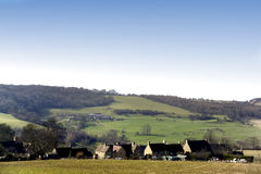 Cotswolds. A view over cotswolds landscape and a village gloucestershire midlands england uk Stock Image