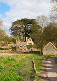 Cotswolds. Ancient village Lower Slaughter in the Cotswolds region Royalty Free Stock Images