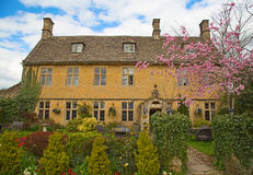 Cotswolds. Ancient village Lower Slaughter in the Cotswolds region Royalty Free Stock Photos