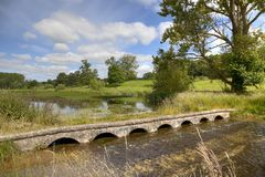 Cotswolds bridge. A rural Cotswolds landscape, Gloucestershire, England Stock Images