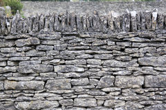 Cotswolds dry stone wall background Stock Photography