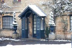 Cotswolds im Winter Stockbild