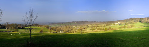 Cotswolds landscape Royalty Free Stock Images