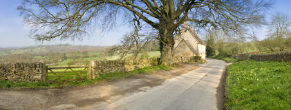 Cotswolds landscape Royalty Free Stock Photo