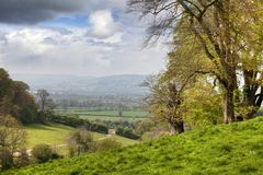 Cotswolds Landscape in Spring Stock Photo