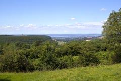 Cotswolds scenico - vicino a Wotton nell'ambito del bordo fotografie stock libere da diritti