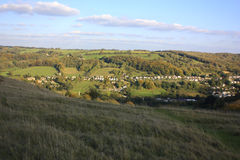 The cotswolds at Stroud. A view of the Cotswolds countryside near Stroud Royalty Free Stock Photo