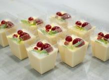 Cotta de Panna com leite condensado caseiro imagens de stock royalty free