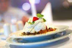 Cotta italiano do panna da sobremesa Fotos de Stock