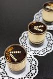 Cotta panna επιδορπίων με το espresso Στοκ Φωτογραφία