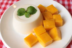 Cotta Panna с мангоом Стоковое фото RF
