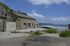 Cottage étrange de vacances à la baie de St Austell près de Portholland Photographie stock