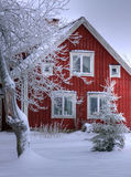 Cottage 01. Snowy cottage in Smaland (Sweden Stock Photography