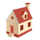 Cottage. A cottage model for real estate plots Royalty Free Stock Photos