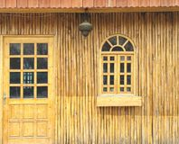Cottage. Front view of an small wooden cottage Royalty Free Stock Photography
