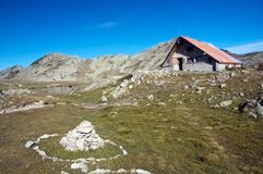 Cottage. For hikers in Pirin mountains, Bulgaria Stock Photo