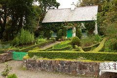 Cottage. View of a small display cottage in the grounds of glenveagh castle royalty free stock photography