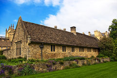 Cottage. The stone home in uk Royalty Free Stock Image