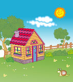 Cottage. Vectorial illustration of cottage and environment Royalty Free Stock Images