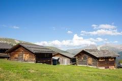 Cottage all'alpe 1 di Wiesner 945m nel ¼ di Davos Wiesen Graubà nden la vista della Svizzera di estate Immagini Stock Libere da Diritti