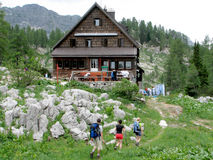 Cottage - alpine hut Stock Image