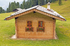 Cottage alpino Immagine Stock
