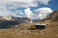 Cottage in Alps Royalty Free Stock Images