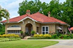 Cottage americano unico del pæse d'origine Immagini Stock Libere da Diritti