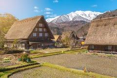 Cottage au village Shirakawago de Gassho-zukuri Images stock