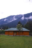 Cottage in Betab Valley-2. A beautiful scene of a traditional wooden cottage in a Kashmir Royalty Free Stock Photos