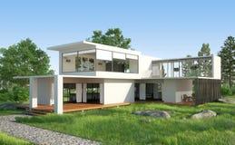 Cottage bianco Immagini Stock