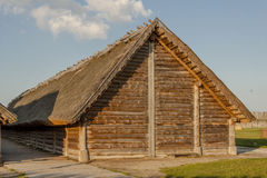 Cottage in Biskupin archaeological  museum - Poland. Royalty Free Stock Photo
