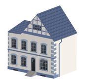 Cottage blu e bianco Fotografia Stock