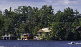 Cottage and boathouses Royalty Free Stock Photos