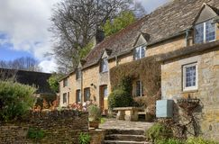 Cottage, Bourton-su--collina Fotografia Stock