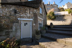 Cottage in Bradford on Avon. Cottage on steps in Bradford on Avon Wiltshire Royalty Free Stock Images