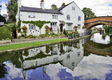 Cottage on Bridgewater Canal. Cottage on the Bridgewater Canal, Lymm, Cheshire, England Stock Photography