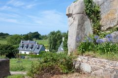 Cottage in Brittany, France Royalty Free Stock Photography