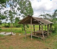 Cottage built differently - of Thai farmers. Stock Image