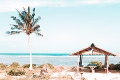 Cottage in Calicoan, Guiuan, Samar orientale Fotografia Stock Libera da Diritti