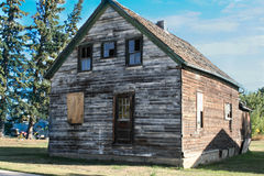 Wooden homestead barn, Alberta, Canada Royalty Free Stock Photos
