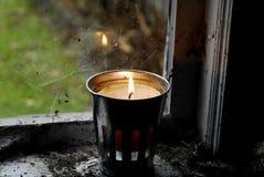 Cottage candle Stock Image