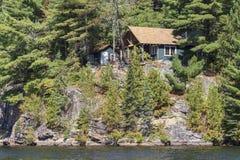 Cottage on Canoe Lake Royalty Free Stock Photos