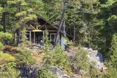 Cottage on Canoe Lake Stock Image